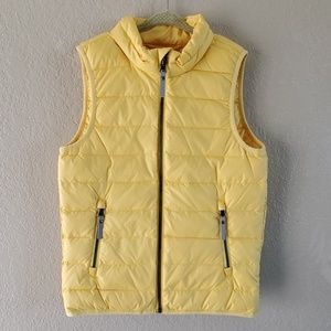 Hanna Andersson 130 8 yellow puffer vest down 🆕️